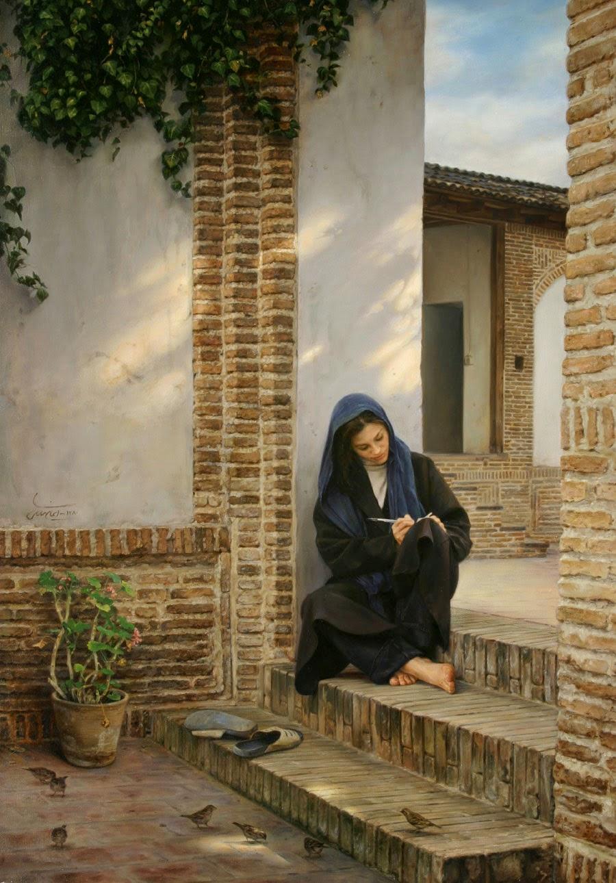 Memória Daquela Casa - Iman Maleki e suas pinturas realistas ~ Pintor iraniano