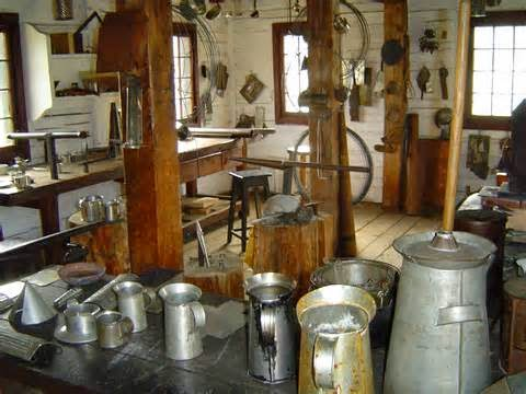 http://commons.wikimedia.org/wiki/File:Tinsmith%27s_Shop_interior.JPG