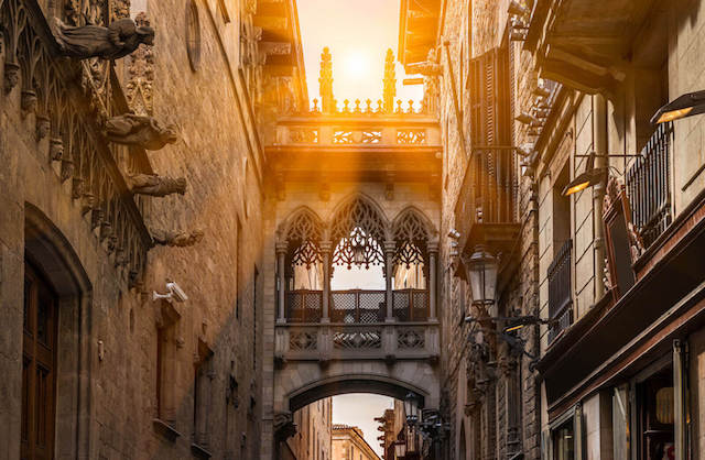 Bairro Gótico em Barcelona