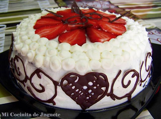Tarta de Chocolate, Fresas y Mascarpone