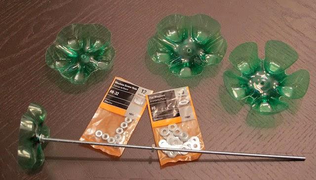 Materiales para soporte de bisutería reciclar botella de plástico DIY