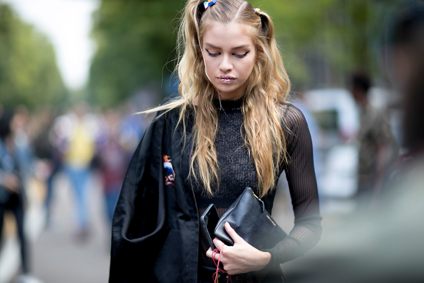 Street Style: Stella Maxwell After Fendi