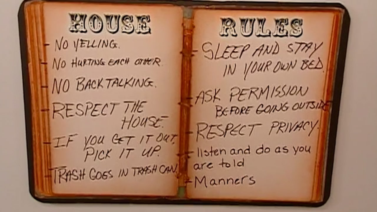 house rules chart template - domestic discipline house rules for adult boys