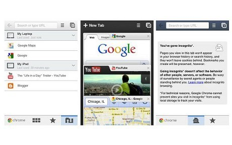 Google Chrome Internet Browser 240x400 touchscreen java Apps