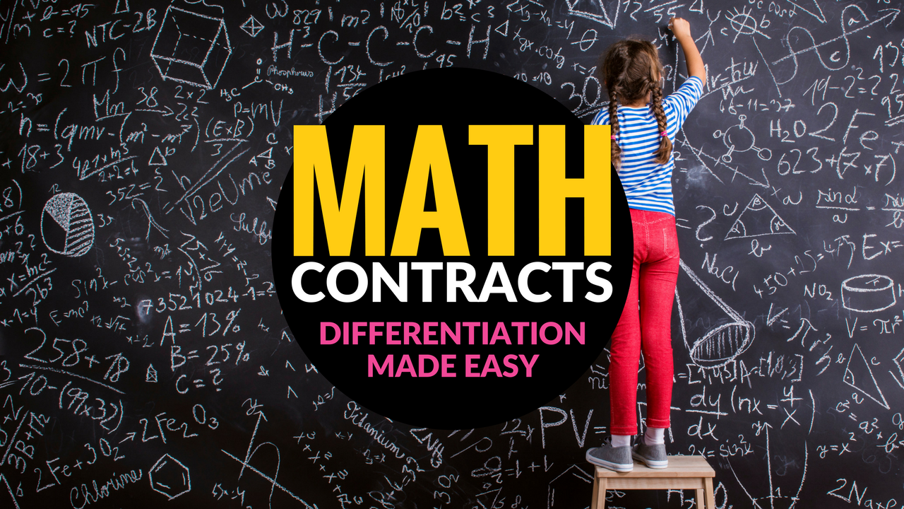Need an easy way to start challenging those advanced math kids NOW? Try math contracts! A simple strategy for elementary classroom teachers to differentiate for advanced math students.