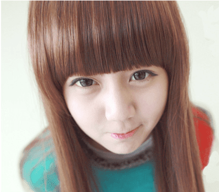 Korean Fashion Beauty Wig - Elf Girl Color Brown Model 1