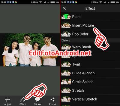 Cara Edit Foto Kepala Upin Ipin - Insert Picture PicSay Pro