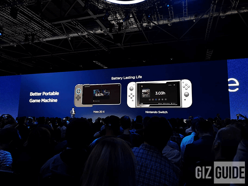 The Mate 20X comes with a gamepad!