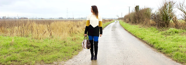 winter out feat Next jumper and New Look Fur Bag