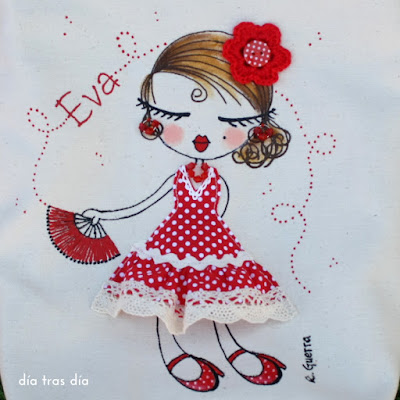 Bolso personalizado flamenca