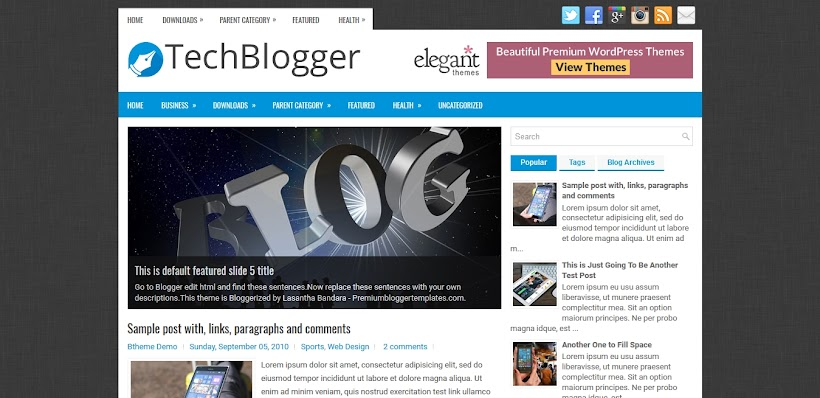 TechBlogger Free Blogger Template