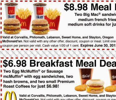 May mcdonalds coupons