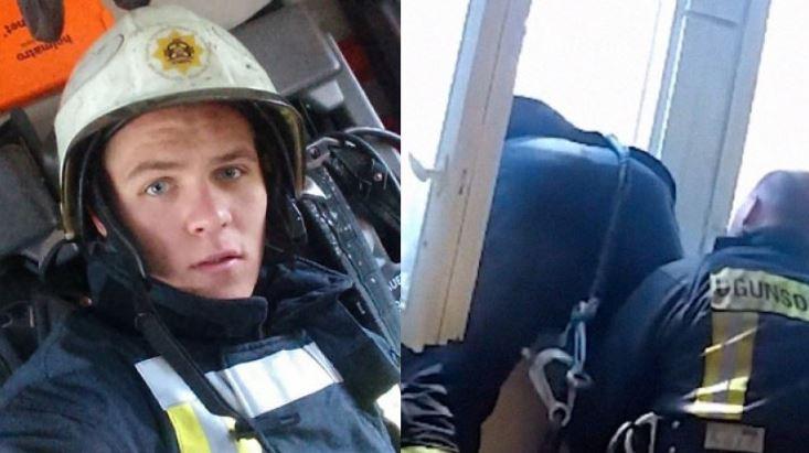 Ο πυροσβέστης της χρονιάς: Έπιασε στον αέρα γυναίκα που πήδηξε από το μπαλκόνι της!