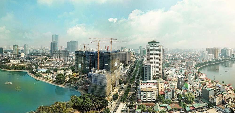 Tiến độ thi công dự án BRG Grand Plaza 16 Láng Hạ tháng 11/2018