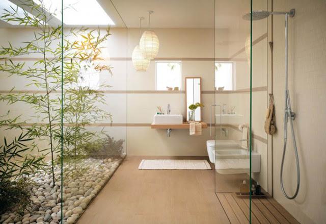 Contoh pemilihan warna cat rumah minimalis untuk desain kamar mandi yang keren