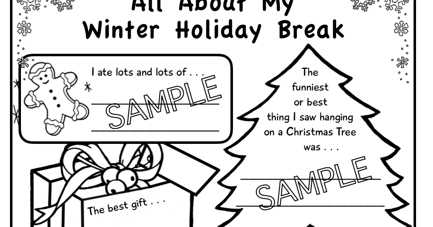 kafy's books: All About My Winter Holiday Break