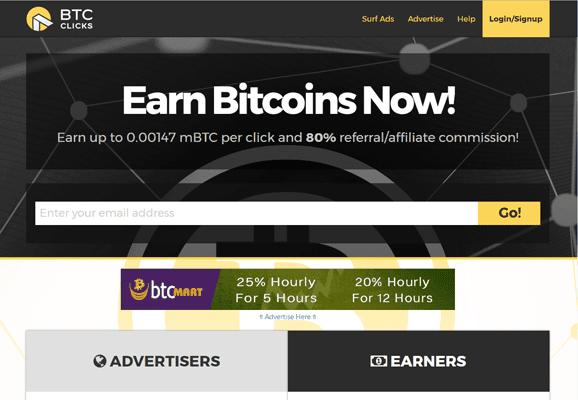 BTCClix PTC Paid To Click