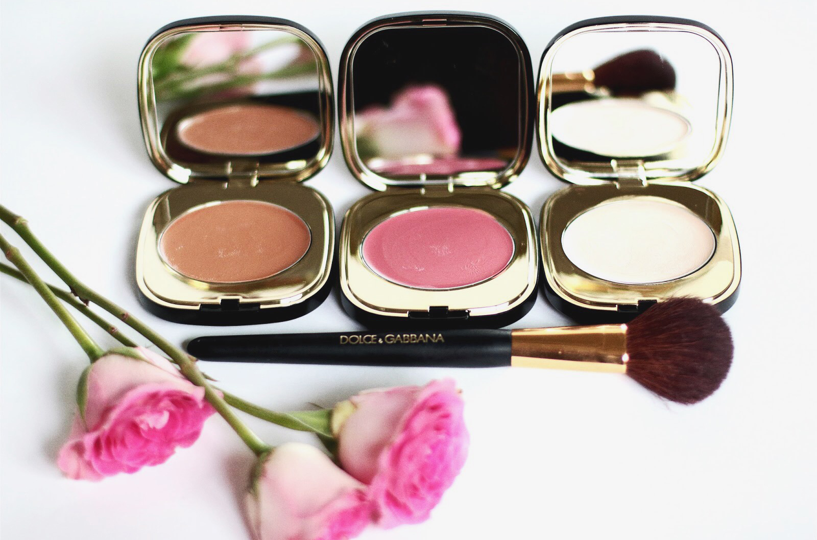 dolce gabbana blush of roses illuminator blush broner creme avis test swatch