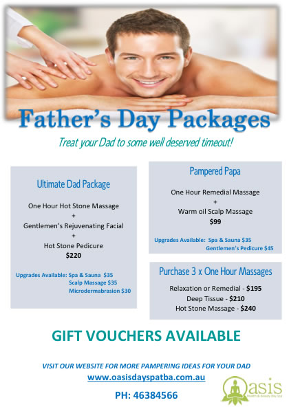 Oasis health beauty day spa specials for Health spa vacation packages