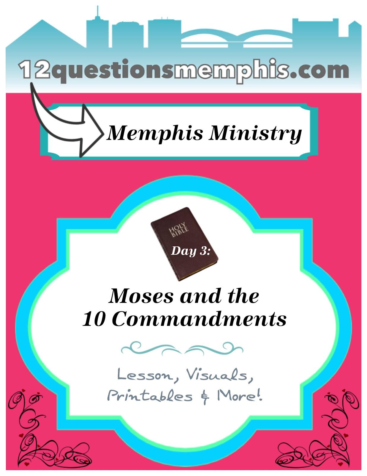 bible fun for kids 2 7 moses u0026 the 10 commandments