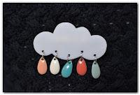 broche nuage et gouttes pastel