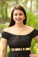 Mannara Chopra in Short Off Shoulder Black Dress ~  Exclusive 057.JPG