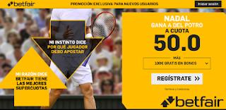 betfair supercuota Nadal gana a Del Potro us open 7 septiembre