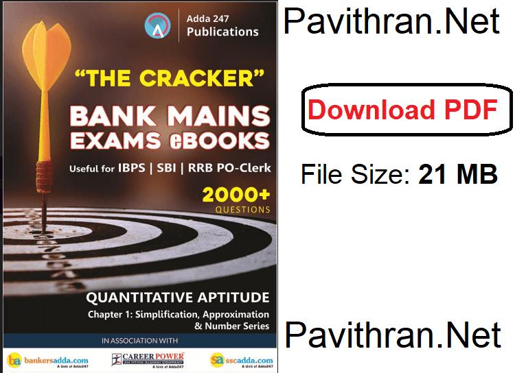 Bank Mains-Quantitative Aptitude Book pdf
