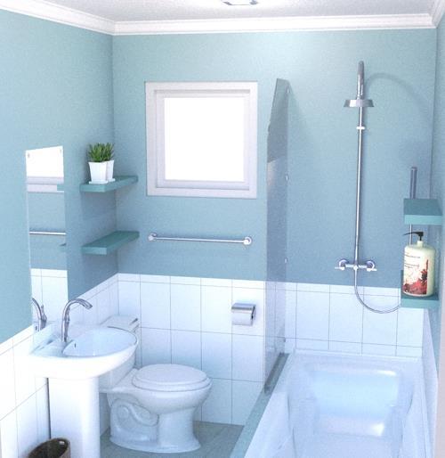kamar mandi minimalis dengan bathtub referensi rumah