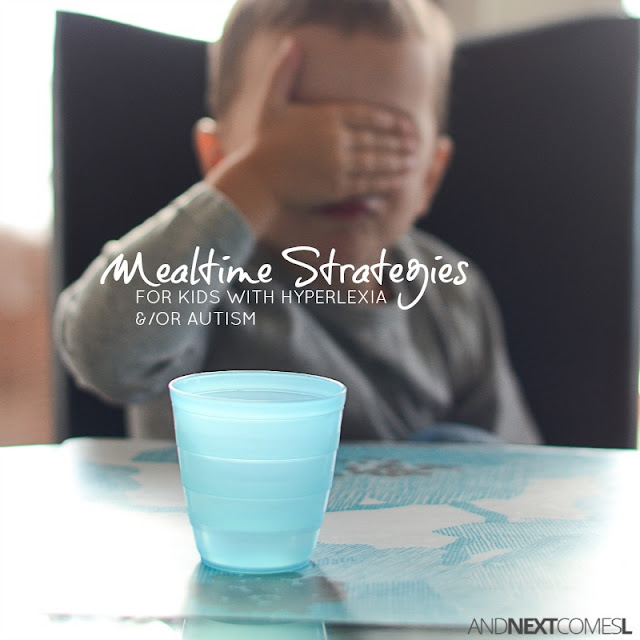 Hyperlexia teaching strategies for mealtime