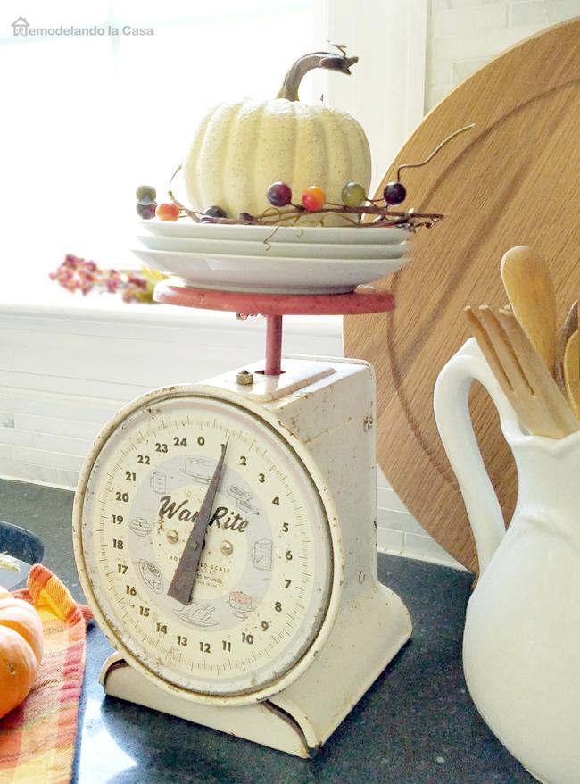 Way Rite kitchen scale in kitchen counter