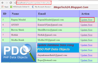 PHP PDO Update Query