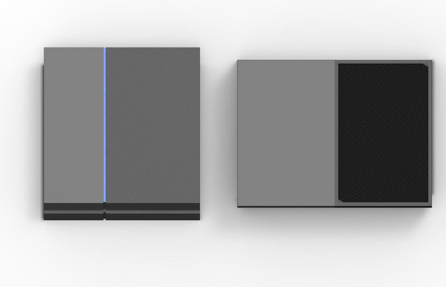 Ps4 vs xbox one console size comparison gamingreality for What is console