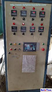 Tủ điều khiển nhiệt độ dán túi và cắt dán túi 3 biên được Auto Vina nâng cấp hệ điều khiển