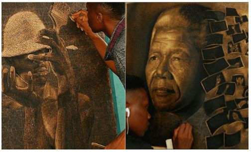 Meet Talented Nigerian Artist Who Does Wonders With Razor Blade (Photos)