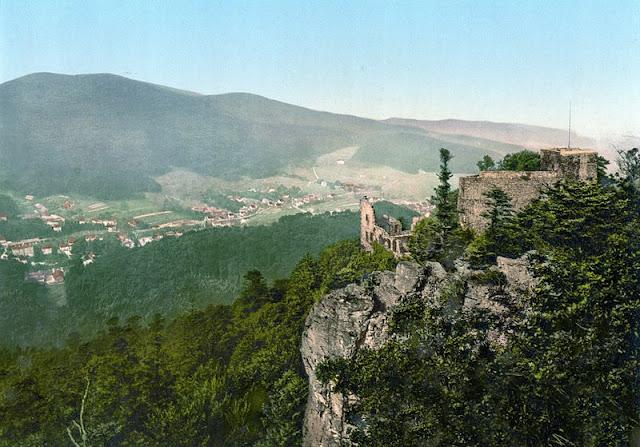 Baden-Baden Altes Schloss um 1900