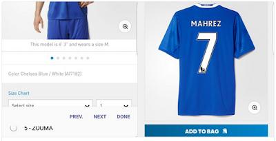 Riyad Mahrez Shirt In Chelsea Shop