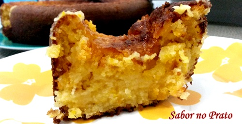 Receita fácil de bolo de milho cremoso feito no liquidificador