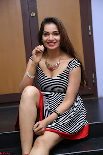 Ashwini in Spicy Short Deep Neck Dress at Pelliki Mundu Prema Katha Trailer Launch Exclusive  11.JPG