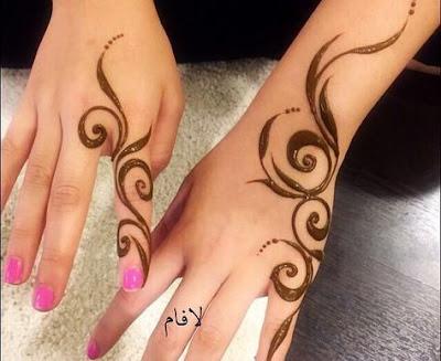 easy simple mehandi design for fingers