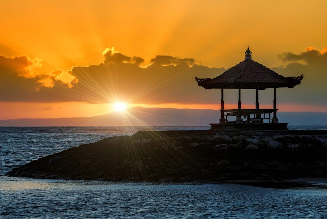 Sunset in Sanur Bali