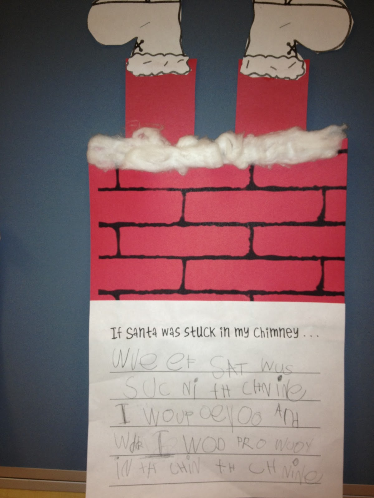 Santa's Stuck Writing Craftivity by Teaching in Blue Jeans