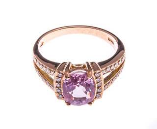 Pink sapphire and diamond cocktail ring from The Fine Jewellery Company.