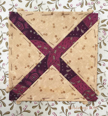 Dear Jane Quilt - Block H13 Farm Field's