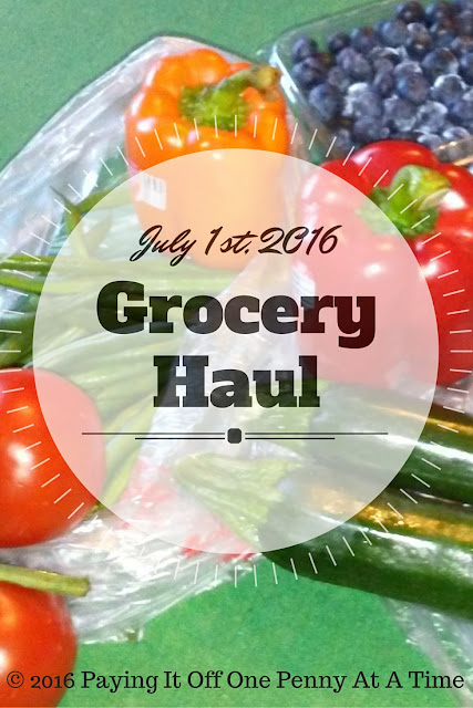 Paying It Off One Penny at a Time: July 1, 2016 Grocery haul and the savings and rebate apps I love