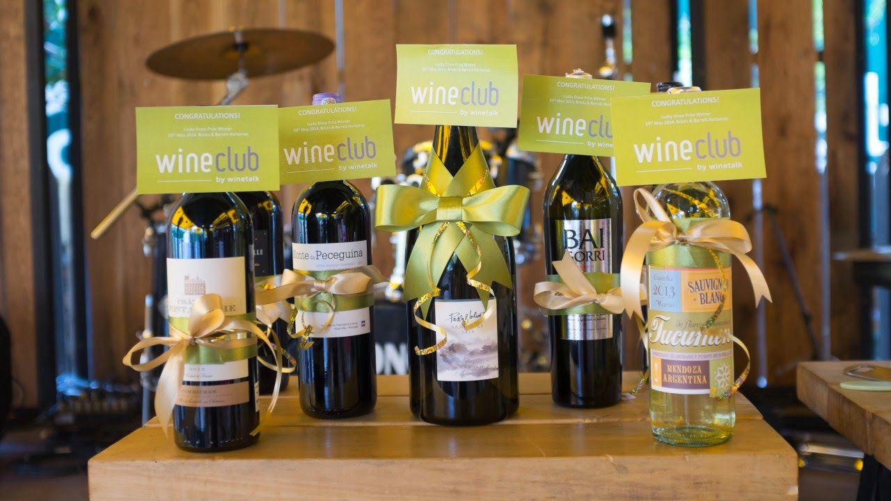 wine talk gave away prizes to wine club guests