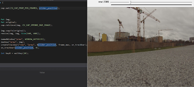 opencv videocapture playback fast frame access