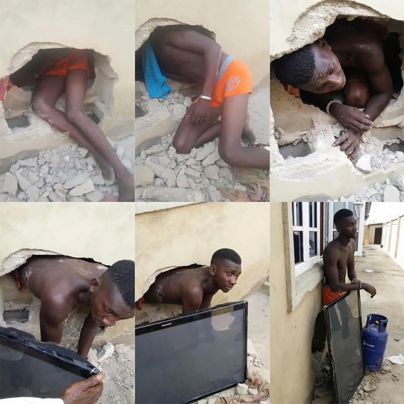 Thief demonstrates how he broke into house after getting caught