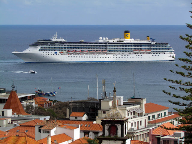 another cruise ship leaves Funchal port