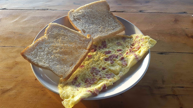 Bacon Omelette at Our Shack